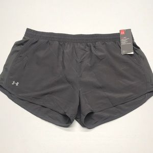 🆕 UNDER ARMOUR Womens XL Gray Athletic Shorts